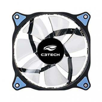 Cooler P/ Gabinete C3TECH F7-L130BL 120mm Led Azul