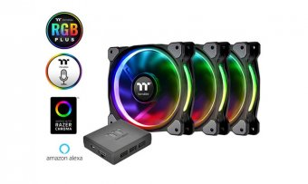 Cooler P/ Gabinete Thermaltake Ring+ 12RGB Radiator Premium ED C/3 LED Switch CLF053PL12SWA