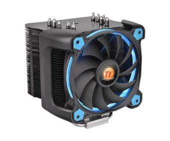 Cooler Processador FAN Thermaltake RIING SILENT 12 Pro Blue Aluminio CL-P021-CA12BU-A