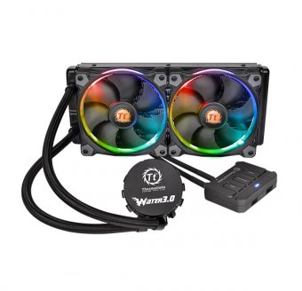 WaterCooler ThermalTake 3.0 Ring Red RGB 240 ALL-IN-ONE LCS CL-W107-PL12SW-A