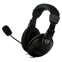 Fone De Ouvido Mic C3TECH Voicer Comfort Stereo PTO