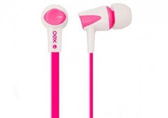 Fone de Ouvido Oex Colorhit Com Microfone, Fn-203 Rosa/Branco