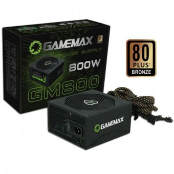 FONTE 800W REAL GAMEMAX GM800 BLACK 80 PLUS BRONZE