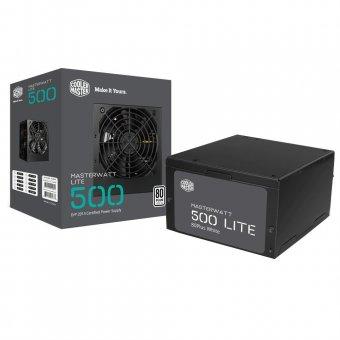 Fonte Cooler Master 500W 80 Plus White MasterWatt Lite MPX-5001-ACAAW-WO