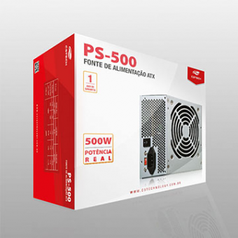 Fonte De Alimentação C3TECH ATX 500W PS-500 S/Cabo