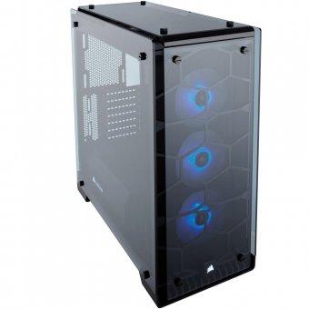 Gabinete Corsair Gamer Crystal Series 570X ATX RGB Preto com Vidro Temperado CC-9011098-WW