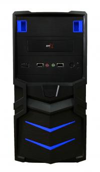 Gabinete Gamer Br-one P11 Blue 2 Baias Sem Fonte