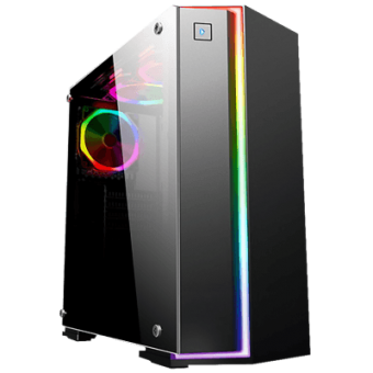 Gabinete Gamer Fox K-Mex CG06RBPto Painel RGB Rainbow CG06RBRH001CB0X