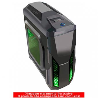 Gabinete Gamer G-Fire HTL017B06S S/Fonte Preto 1 Baia
