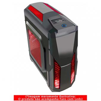 Gabinete Gamer G-Fire HTL017E06S S/Fonte Preto/Vermelho 1 Baia