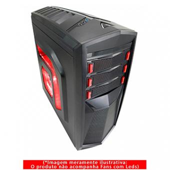 Gabinete Gamer G-Fire HTT018B06S Preto 1 Baia