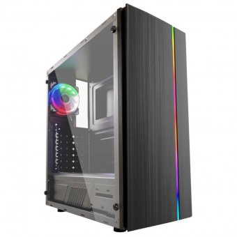 Gabinete Gamer HTX910B RGB Lateral de Acrílico S/Fonte