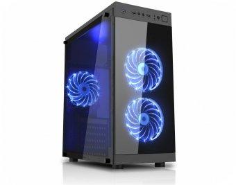 Gabinete Gamer K-mex Cg-01f6 Anjo da Noite 2 Fans 15led Azul Usb 3.0