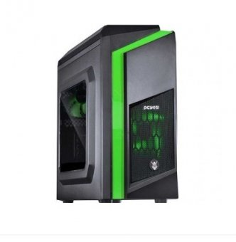 Gabinete Gamer Pcyes Dwarf Preto Com Verde