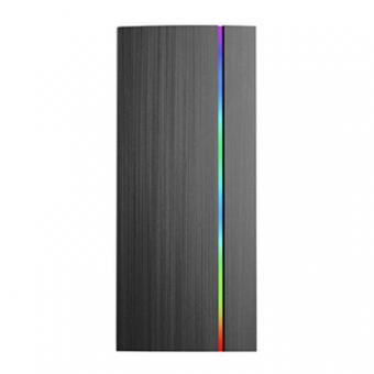 Gabinete Gamer PIXXO HTX910B Lat. Acrilica RGB C/Cooler S/Fonte