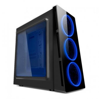 Gabinete Gamer Triple Cooler Com Led Azul Htx906l06s