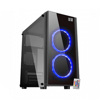 Gabinete K-MEX Gamer CG-03RA Narnia S/Fonte LED Color
