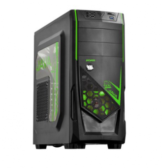 GABINETE PCYES MID TOWER JAVA VERDE S/FONTE