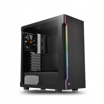 Gabinete Thermaltake H200 TG RGB Black, SPCC, Vidro Temperado, Fan 120MM CA-1M3-00M1WN-00