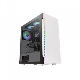 Gabinete Thermaltake H200 TG Snow RGB Branco, SPCC, Vidro Temperado, Fan 120MM CA-1M3-00M6WN-00