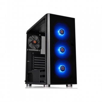 Gabinete Thermaltake V200 TG RGB CA-1K8-00M1WN-01 Com cooler RGB Preto