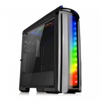 Gabinete ThermalTake Versa C22 RGB/TR2 700AH2NFB/WC3 Riing RGB240 CA1G900M1WN03
