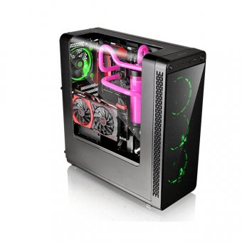GABINETE THERMALTAKE VIEW 27 RING 12 VERDE, CA-1G7-00M1WN-GR