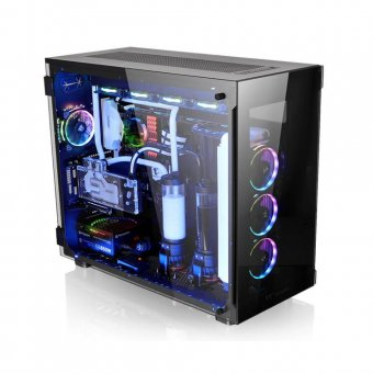 Gabinete Thermaltake View 91 Tg Rgb Bk/Temp. Glass 3/Win/Sgcc Ca-1i9-00f1wn-00