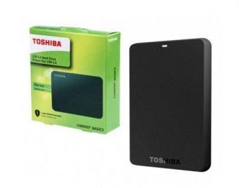 HD Externo Toshiba Canvio Basics 1TB USB 3.0 Preto HDTB410XK3AA