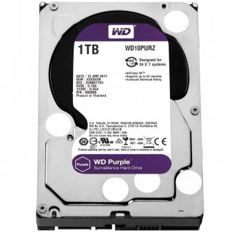 Hd Wd Sata 3 Purple Surveillance 1tb Intellipower 64mb Cache Wd10purz