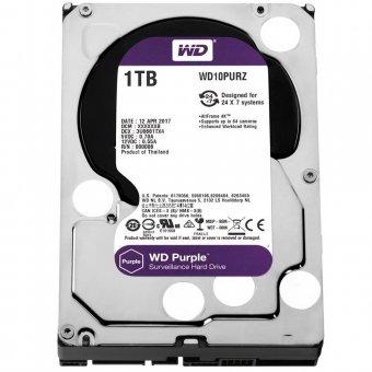 HD WD SATA 3,5´ Purple Surveillance 1TB IntelliPower 64MB Cache SATA 6.0Gb/s - WD10PURZ