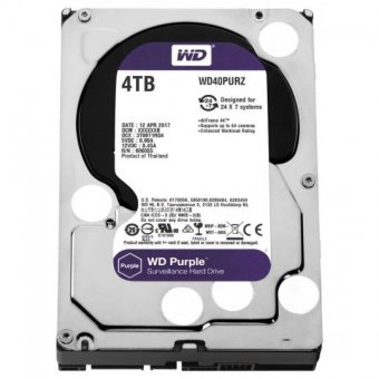 Hd Wd Sata 3,5 Purple Surveillance 4tb Intellipower 64mb Cache Sata 6.0gb/s - Wd40purz