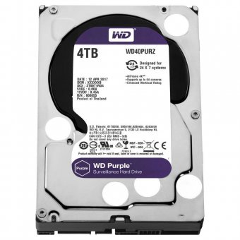 Hd Wd Sata 3,5 Purple Surveillance 4tb Intellipower 64mb Cache Sata 6.0gb/s - Wd40purz