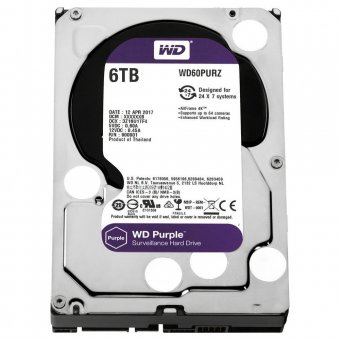 Hd Wd Purple Surveillance 6tb Intellipower 64mb Sata 3 Wd60purz