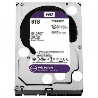 HD WD Purple Surveillance 6TB IntelliPower 64MB SATA 3