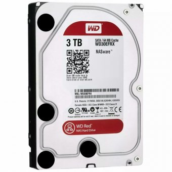 HD WD RED NAS 3TB 5400RPM 64MB Cache SATA 3 WD30EFRX