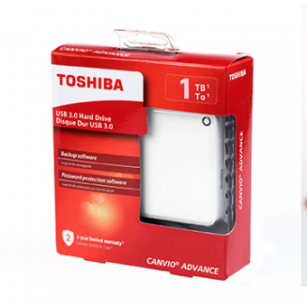 HDD Externo 1TB TOSHIBA Canvio Advance Bco 2,5