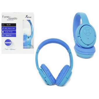 HeadPhone Bluetooth 3.0 - Azul - KP-360 HP0105AZ