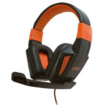 Headset Combat Hs205 Oex Preto/Laranja