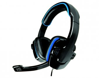 Headset Gamer Ar-s501 Preto Com Azul C/ Microfone K-mex