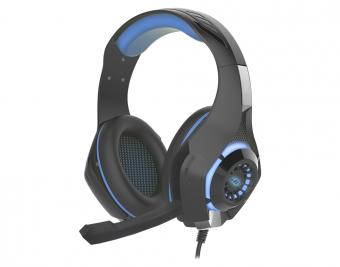 Headset Gamer K-mex Mic Ar-s406 Led Azul