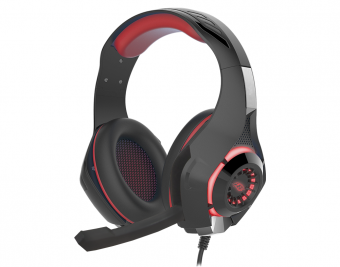 Headset Gamer K-mex Mic Ar-s406 Led Vermelho