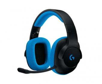 Headset Gamer Logitech G233 Preto/Azul Pc/Console, 981-000702