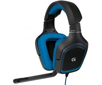 Headset Gamer Logitech G430 7.1 Surround Preto/azul, 981-000551