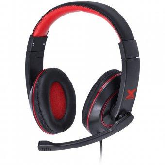 Headset Gamer Vx Gaming V Blade II P2 Estéreo Com Microfone Retrátil E Ajuste Preto e Vermelho