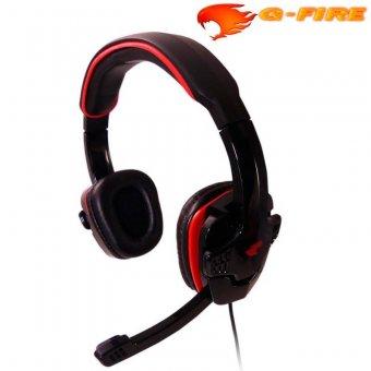 Headset Gfire Com Controle De Volume Preto/Vermelho Eph501
