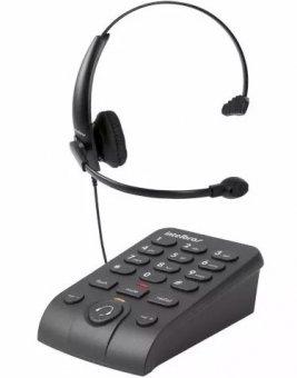 Headset Intelbras Hsb50 Telefone Digital Emborrachado