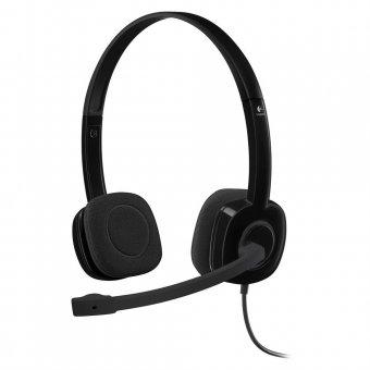 Headset Logitech H151 Estéreo Analógico P3 3,5 Mm Preto - 981-000587