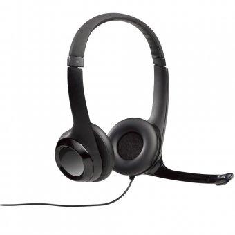 Headset Logitech H390 Áudio Digital em Couro USB