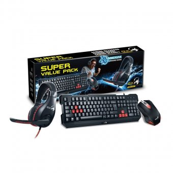 KIT Gaming Teclado e Mouse Preto USB GENIUS KMH-200
